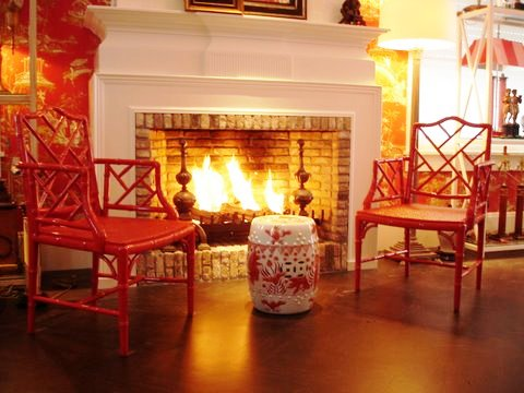 Showroom Chinoiserie room, Coral Chippendale chairs[1]__09 067