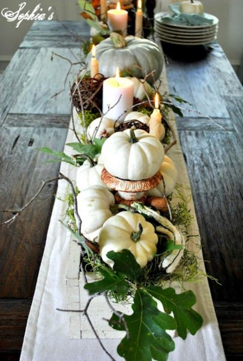 White-Pumpkins-Fall-Table-Centerpiece