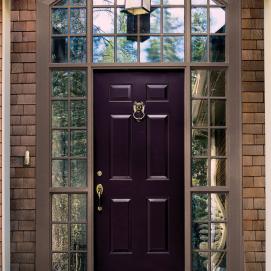 dark purple door