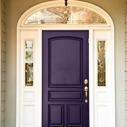 purple front door